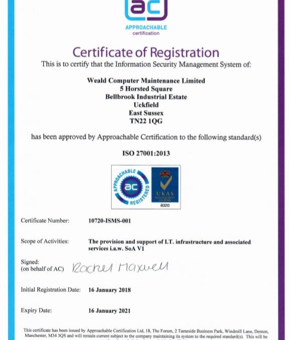 Weald ISO27001