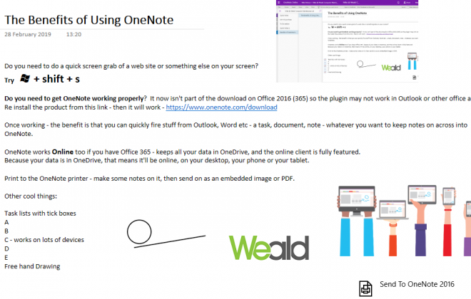 The Benefits Of Using OneNote